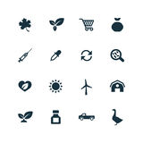 Set of agriculture, farm icons Royalty Free Stock Photo