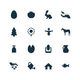 Set of agriculture, farm icons Royalty Free Stock Photography