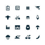 Set of agriculture, farm icons Royalty Free Stock Images