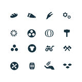 Set of agriculture, farm icons Stock Images