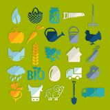 Set of agriculture icons Stock Image