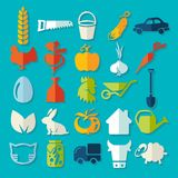 Set of agriculture icons Stock Photos