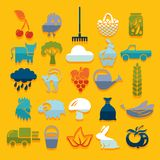 Set of agriculture icons Royalty Free Stock Images
