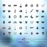 Set of agriculture icons Stock Photography