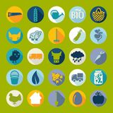 Set of agriculture icons Royalty Free Stock Image