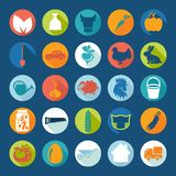 Set of agriculture icons Stock Photo