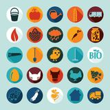 Set of agriculture icons Royalty Free Stock Photos