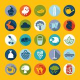 Set of agriculture icons Stock Images