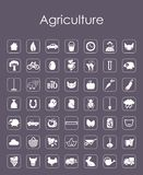 Set of agriculture simple icons Royalty Free Stock Photos