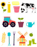 Set agriculture Stock Image
