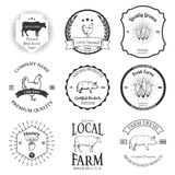 Set of agriculture vector label design elements Royalty Free Stock Photography