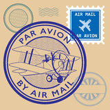 Set of air mail symbols Royalty Free Stock Photo
