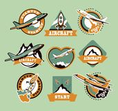 Set of aircraft icons Royalty Free Stock Photo