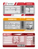 Set airline boarding pass,air ticket template. Isolated on white background. Vector illustration. Set airline boarding pass ticket template. Isolated on white vector illustration