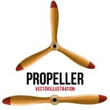 Set of Airplane classic wood propeller. Vector. vector illustration