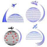 Set of Airplane Icons  Stock Photos