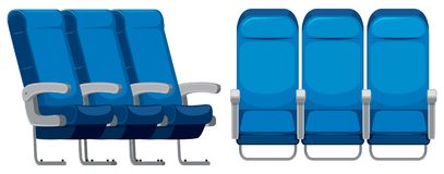 Set of airplane seat stock illustration