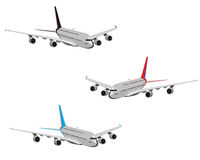 Set of airplanes. Assortment from three airplanes on a white background vector illustration