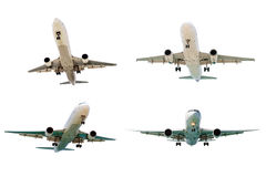 Set of airplanes isolated on white background. Stock Image
