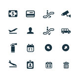 Set of airport icons Stock Images