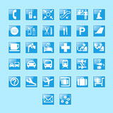 Set of airport signs and symbols. Eps 10 use to web design icon Stock Image