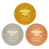 Set akademische Preise lizenzfreie abbildung