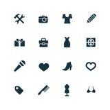 Set akcesoria ikony Obrazy Royalty Free