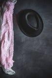 Set akcesoria mody ubrania widzieć od above, odgórny widok Zdjęcia Royalty Free
