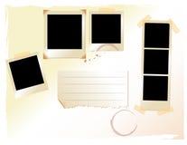 set aktivering för pics-polaroid Arkivfoton
