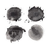 Set akwarela round kształty ilustracji