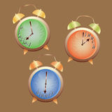 Set  from  alarm clock Stock Photography