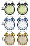 Set of alarm clocks Stock Images