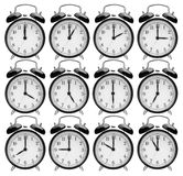 Set of alarm clocks Royalty Free Stock Image