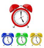 Set of Alarm Clocks Illustration Isolated Royalty Free Stock Image