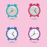 Set alarms with different dials. In vector royalty free illustration