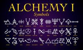 Set of Alchemy Symbols. Stock Images