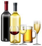 A Set of Alcoholic Beverage. Illustration vector illustration