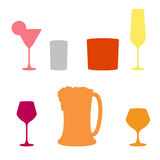 Set of Alcoholic beverages ,  icon Stock Photos