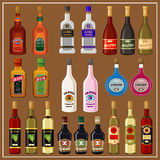 Set alcoholic beverages. Royalty Free Stock Images