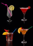 Set of alcoholic cocktails Stock Photos