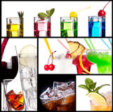 Set of alcoholic cocktails Royalty Free Stock Image