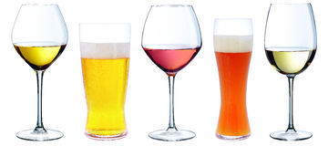 Set of alcoholic drinks Stock Images