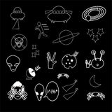 Set of alien icon Stock Photos
