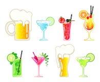 Set alkoholiczni napoje royalty ilustracja