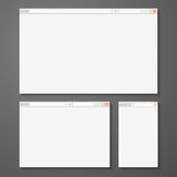Set of all size browsers for site preview Royalty Free Stock Photography