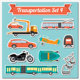 Set of all types of transport icon  for creating your own infogr Stock Photos