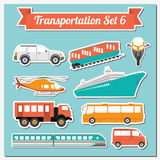 Set of all types of transport icon  for creating your own infogr Royalty Free Stock Images
