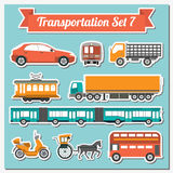 Set of all types of transport icon  for creating your own infogr Royalty Free Stock Photography