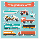 Set of all types of transport icon  for creating your own infogr Stock Image