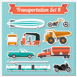 Set of all types of transport icon  for creating your own infogr Royalty Free Stock Photos